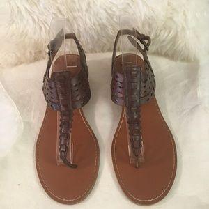 Franco Sarto Brown Cascade Sandals SZ 9.5